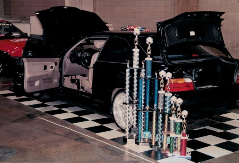 Rick Berry's BMW with trophies